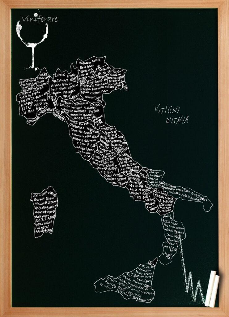 Cartina Vini Italiani