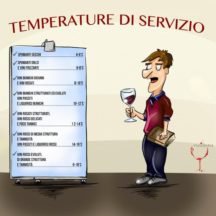 Temperatura di Servizio Vino