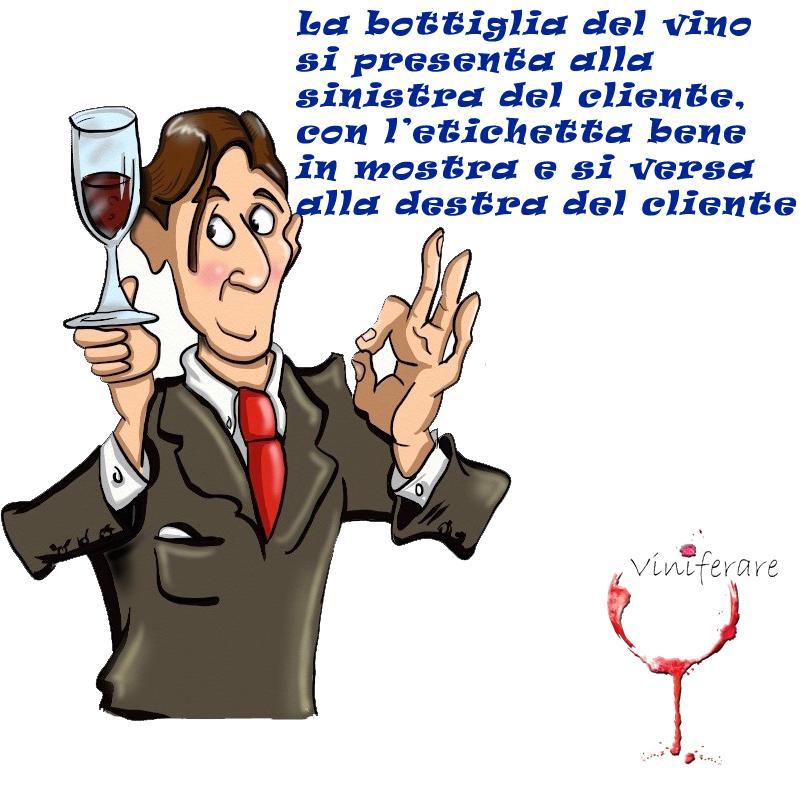 decantare il vino a tavola
